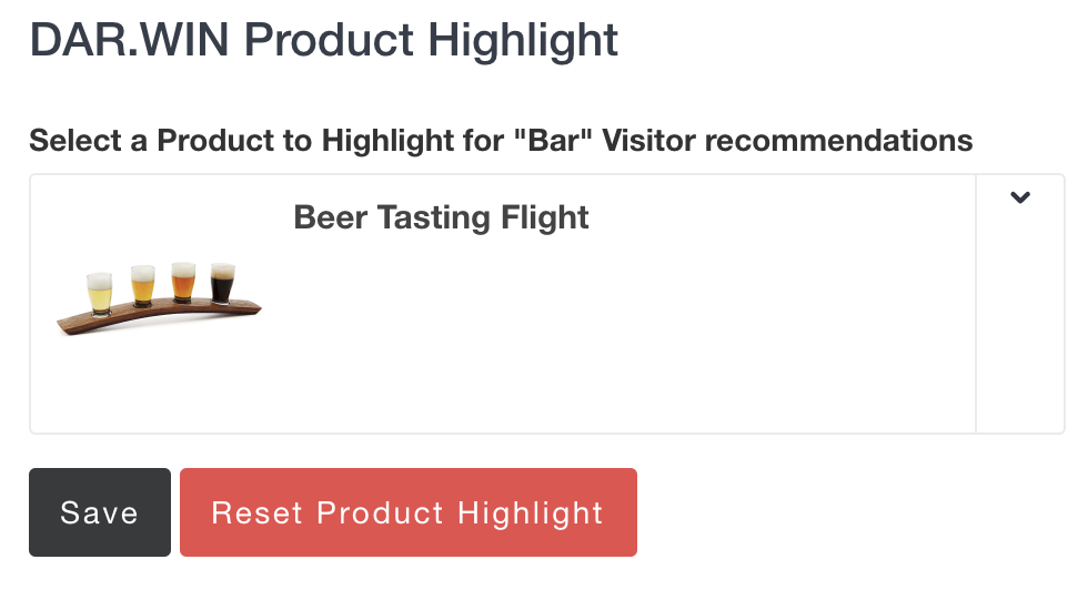 DAR.WIN Product Highlight Interface